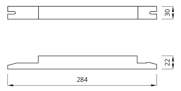 Размер аварийного блока для светильника Т5 с функцией авто-тестирования LINEX AUTOTEST