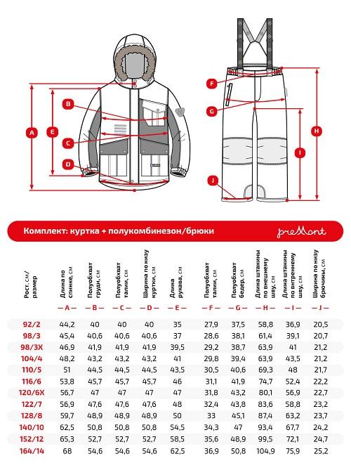 Размерная сетка комплекта Premont Трасса Мон-Трамблан WP92266