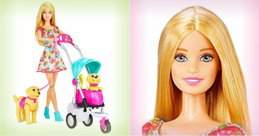 Игровой набор Barbie - прогулка со щенками с коляской