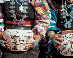 Бусы из бирюзы индейцев племени зуни