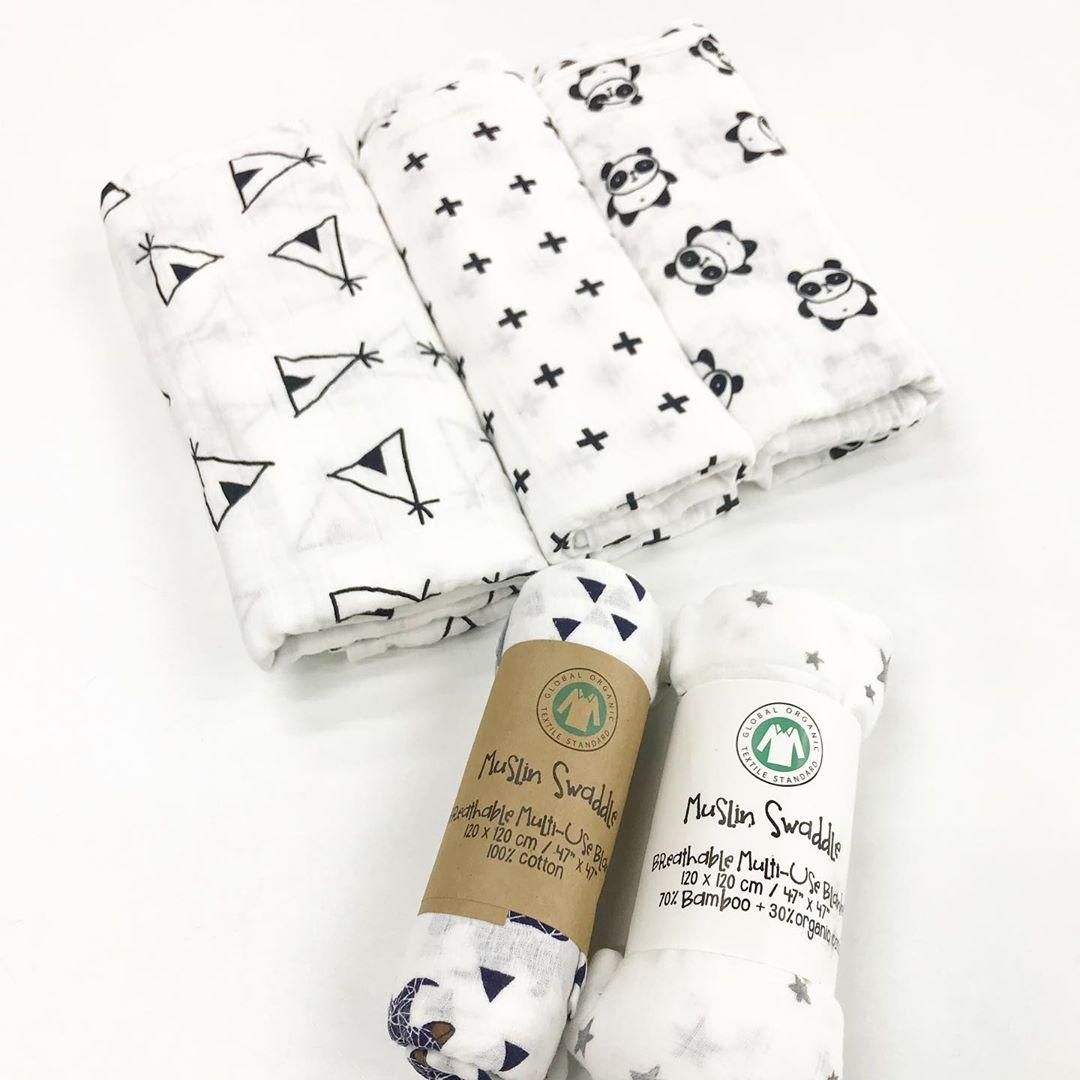 Пеленки для новорожденных в скандинавском стиле