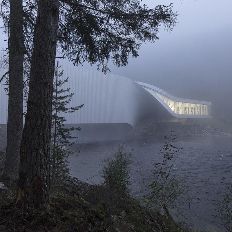 Световой проект The Kistefos от Light Bureau