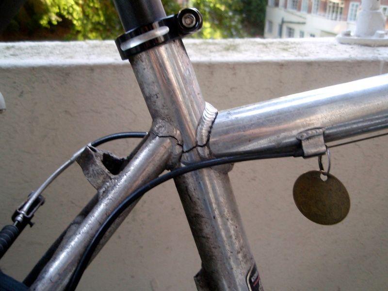 трещина в раме велосипеда