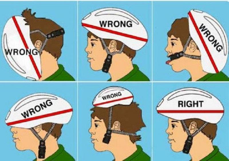 Как шлем должен сидеть на голове