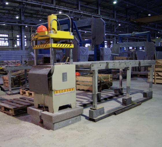 Оборудование для производства гранитной брусчатки