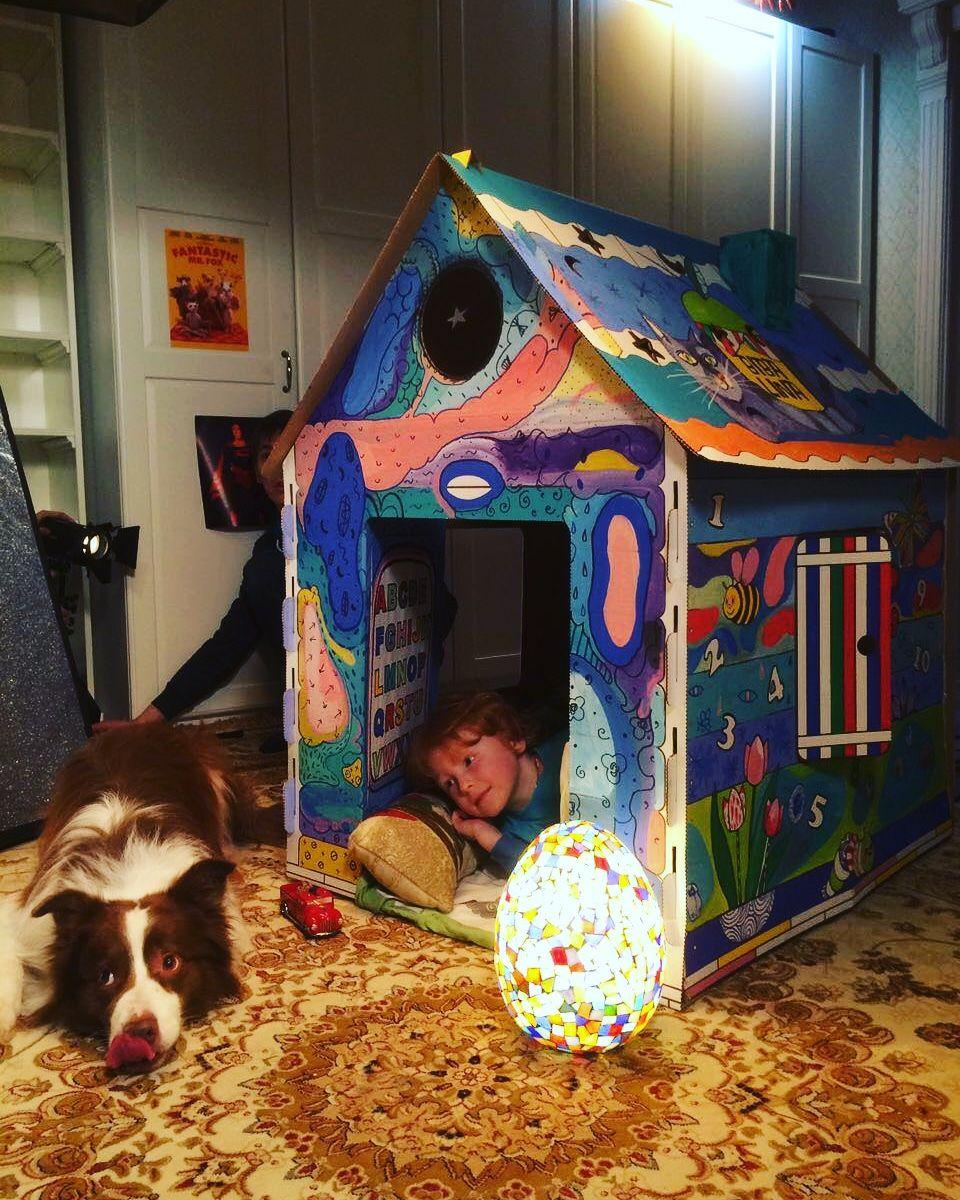Дом раскраска Бибалина, дом раскраска, Bibalina, картонный домик, подарок ребенку, подарок для девочки