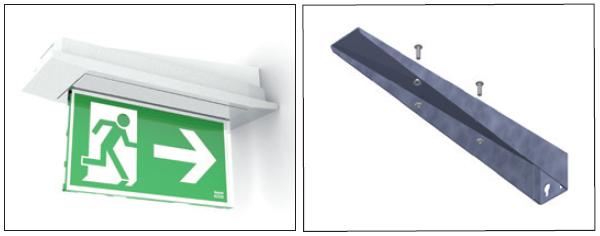 Комплектующие для настенного монтажа светового указателя направления эвакуации Aestetica LED