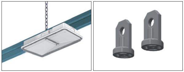 Пример монтажа универсального аварийного светильника на кабельный лоток