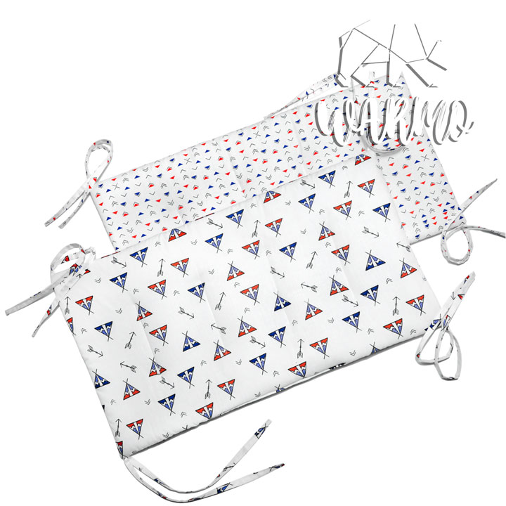 бортики в кроватку з вігвамами фото