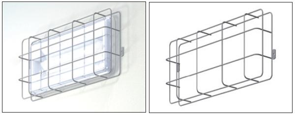 Универсальный аварийный светильник серии EuroCompleta LED может быть укомплектован защитной сеткой