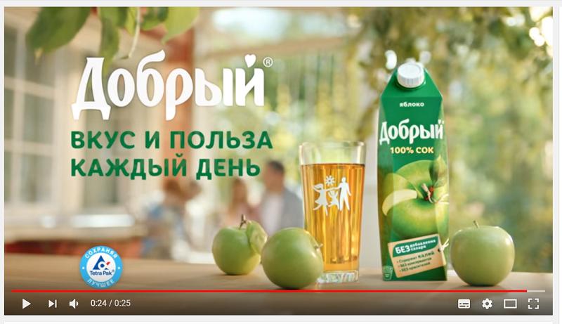 реклама сока