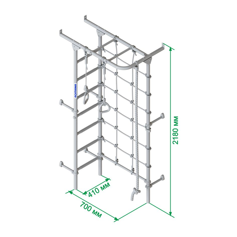 Размеры и характеристики шведской стенки Romana s4