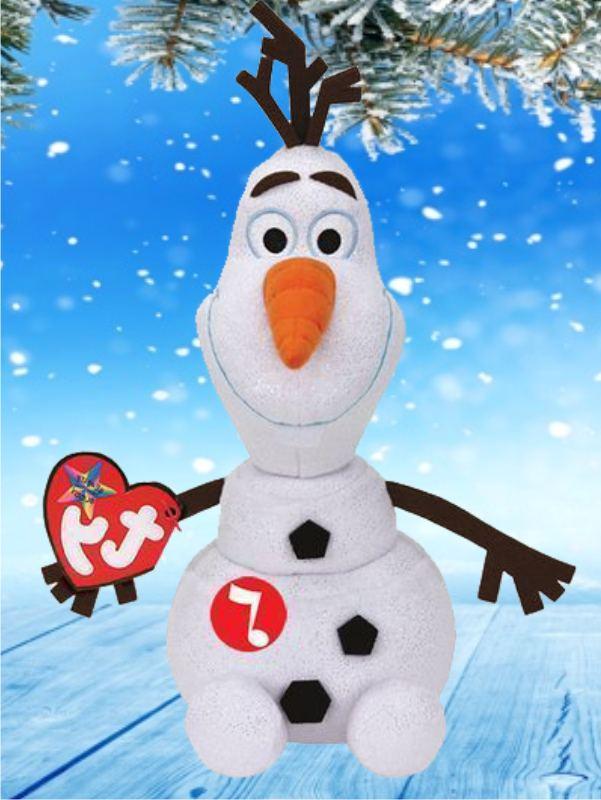Игрушка снеговик Олаф - плюшевый 25 см со звуком