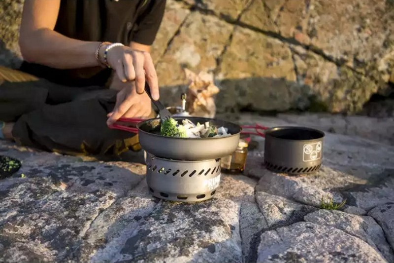 Приготовление пищи на газовой горелке