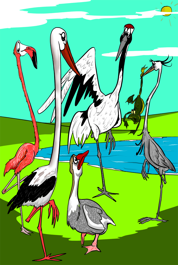 Мозжечковая стимуляция или для чего птицы стоят на одной на одной ноге?