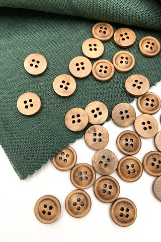 Купить деревянные пуговицы