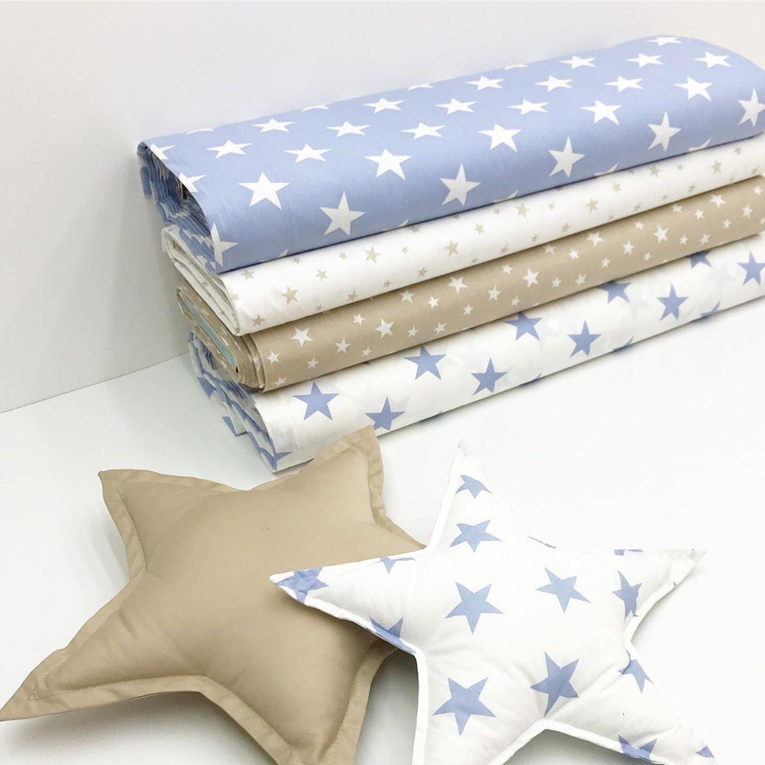 Купить детскую ткань со звездами