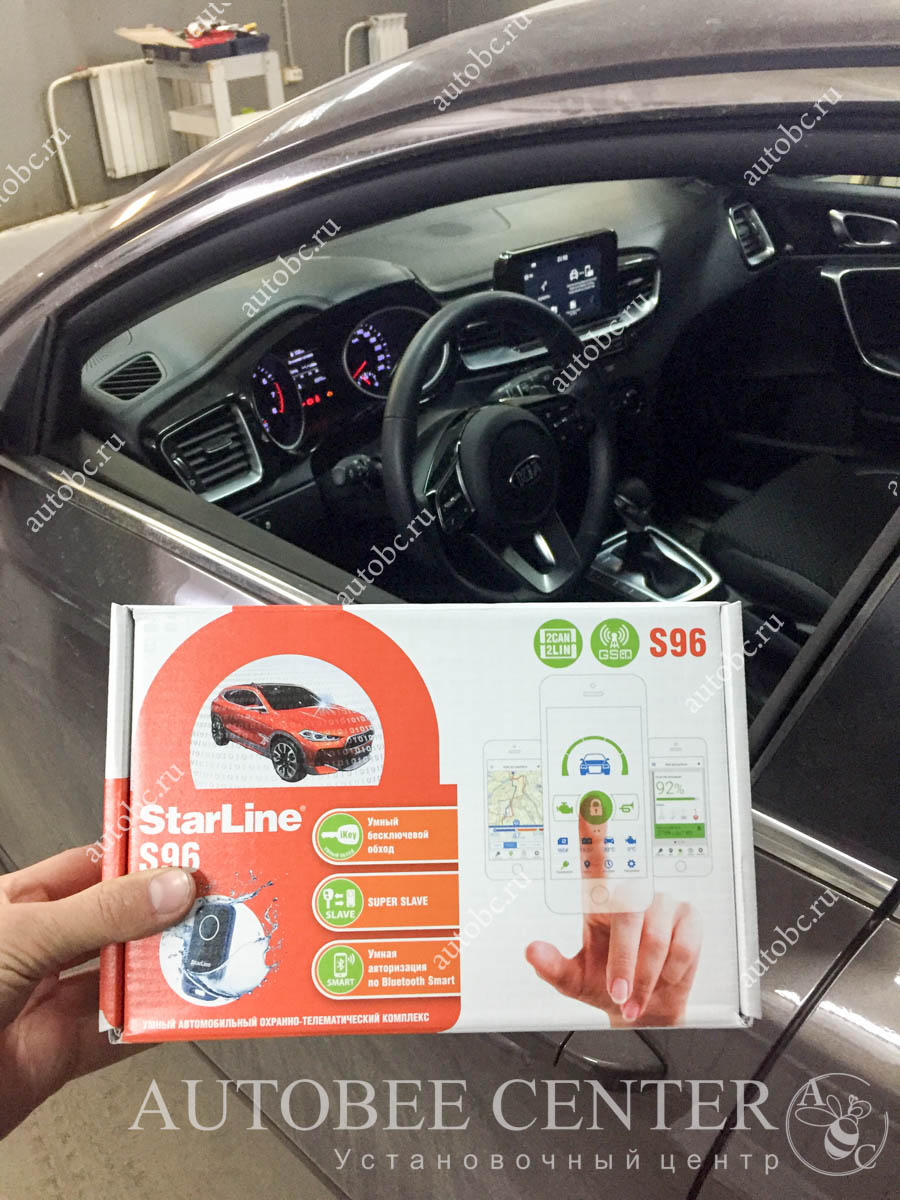 Kia Ceed 2019 (установка StarLine S96BT GSM + охрана)