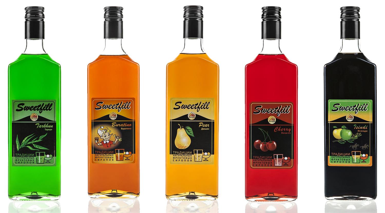 Сиропы SweetFill Тархун, Буратино, Исинди, Вишня