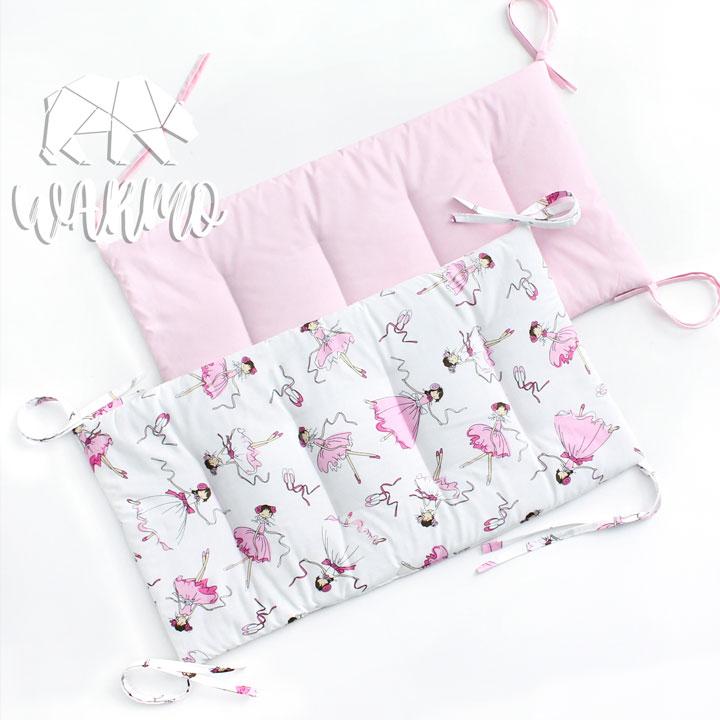 бортики в кроватку світло рожеві фото