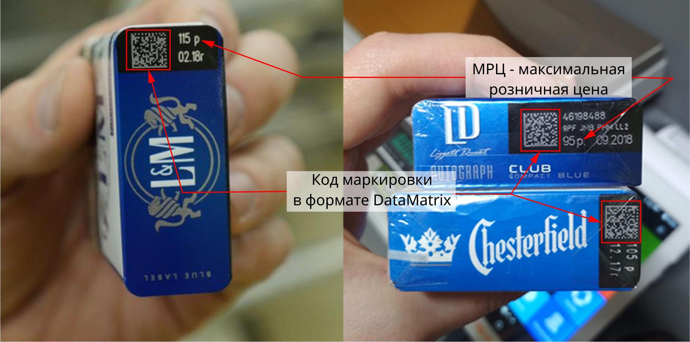 Сигареты с кодом маркировки