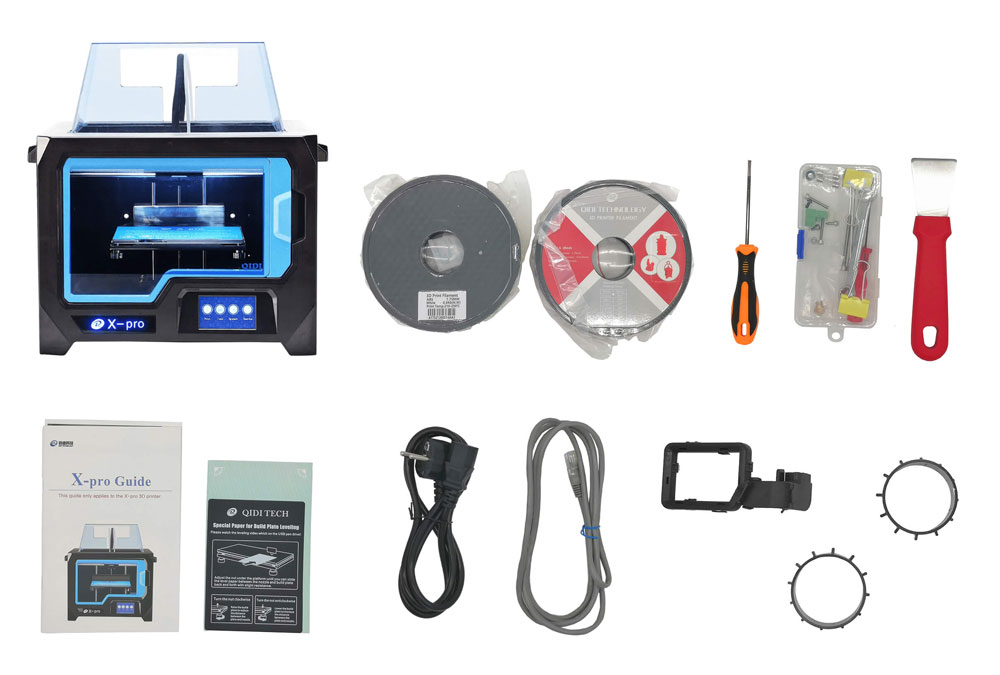 комплектация 3D-принтер QIDI Tech X-Pro