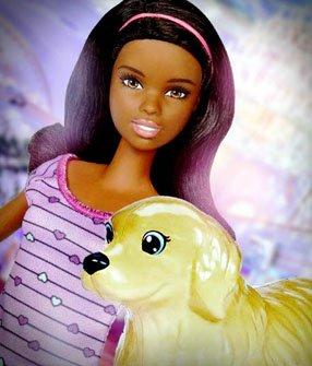 Кукла Barbie (брюнетка) с щенками