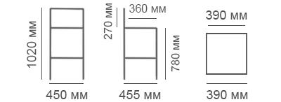 Габаритные размеры барного стула Дебют-МЖ