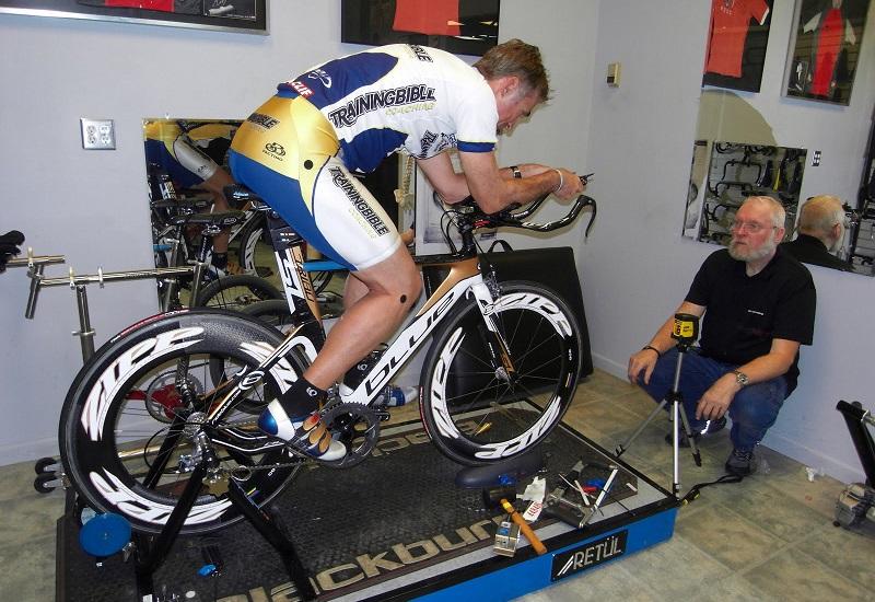 Подгонка велосипеда для профессионального спортсмена