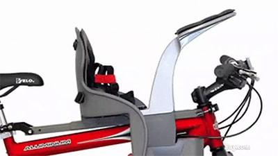 Крепление детского велокресла спереди на раму