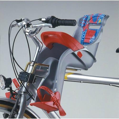 Крепление детского велокресла гибкой стальной вилкой на рулевой трубе