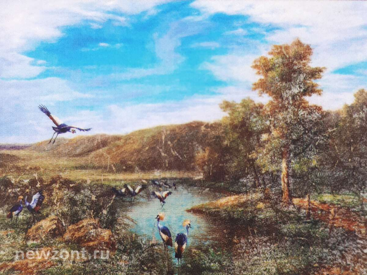"Картина Никаса Сафронова ""Сон о райских птицах в туманном лесу"""