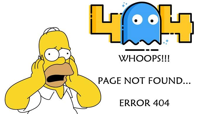 Оригинальное оформление страницы 404