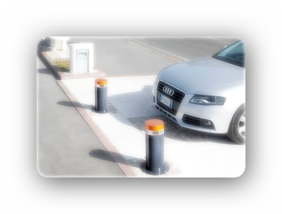 Применение боллардов (парковочных столбиков)