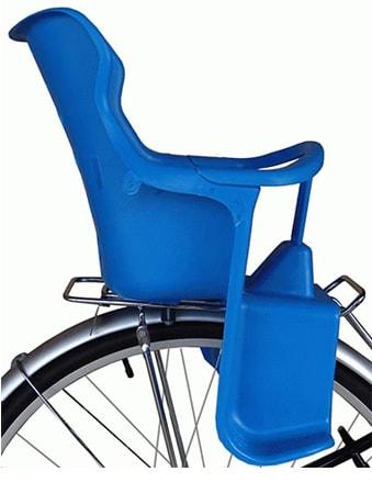 Жесткое крепление детского велокресла на багажник