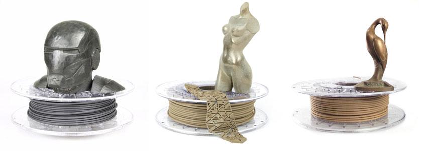 металлы, бронза и медь для 3д принтера