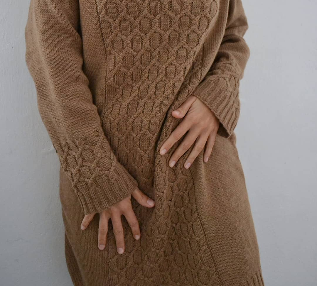 платье из пуха верблюжонка sarlag