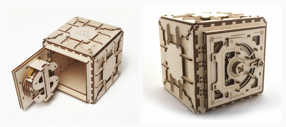 Сборная деревянная модель - Сейф (Ugears)