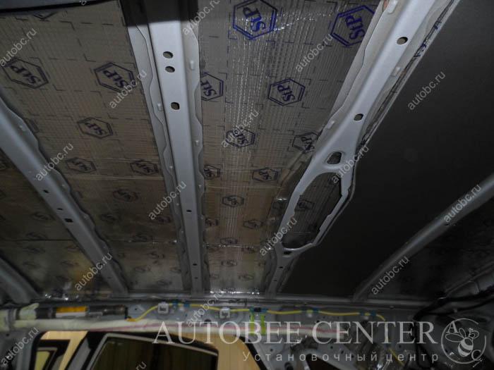 шумоизоляция потолка в автомобиле тойота