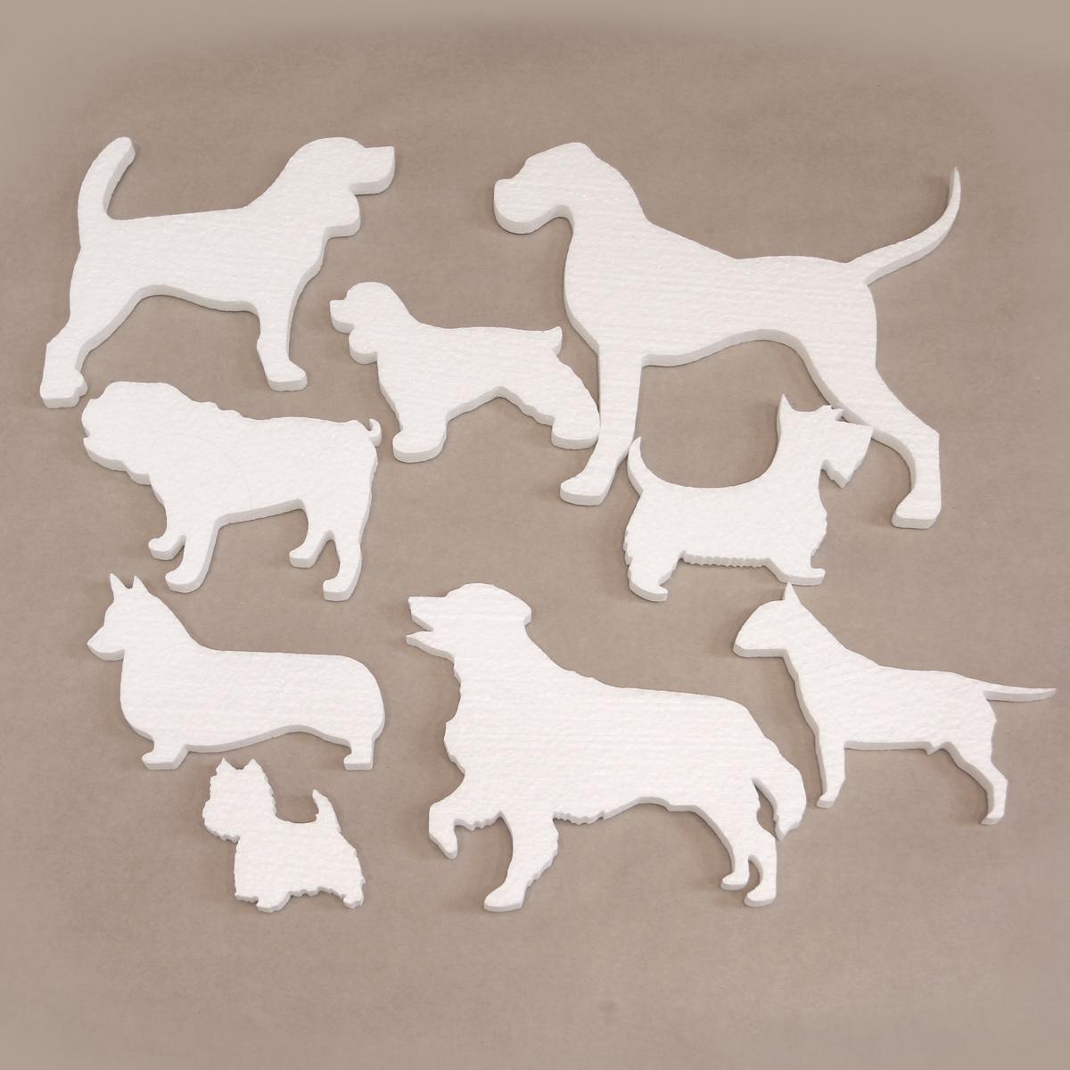 Собаки Великобритании, силуэт из пенопласта.