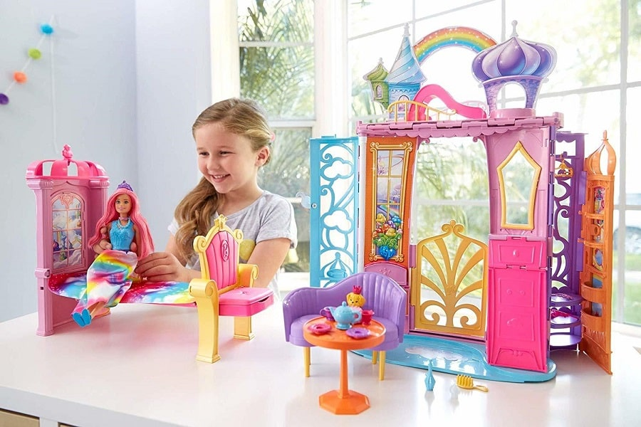 Барби Дримтопия с куклой Dreamtopia Rainbow Cove Doll and Castle FRB15