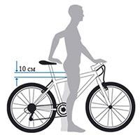 Правила подбора высоты велосипеда
