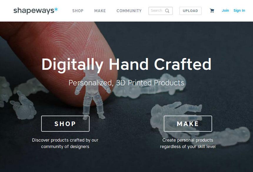 сервис Shapeways по 3д печати