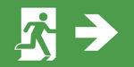 Табло с указанием направления движения к эвакуационным выходам для аварийного светодиодного указателя IP44 ESC-81