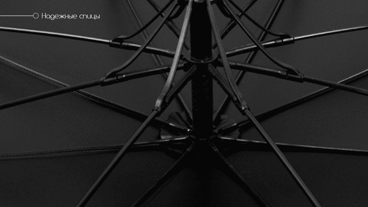 Премиальный зонт трость полуавтомат темно-синий | Vendetta