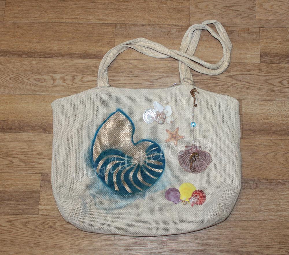 Как декорировать сумку в морском стиле