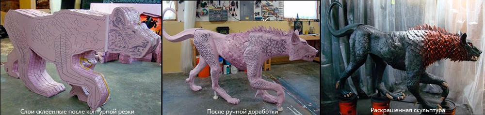 изготовление фигуры из пенопласта.