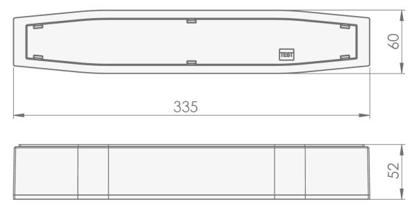 Размеры накладного светильника аварийного освещения Suprema LED SСA NT IP54