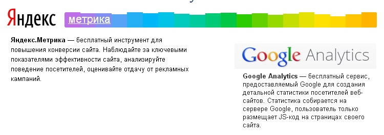 Яндекс.Метрики или Google Analytics