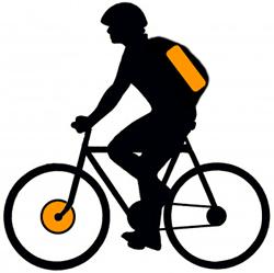 Переднее мотор-колесо и аккумулятор в рюкзаке